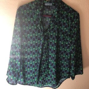 Cynthia rowley size medium owl blouse